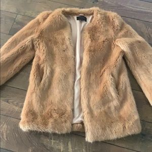 Ann Taylor faux fur coat, M